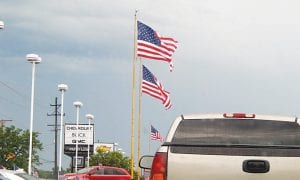 ALL-AMERICAN — One place for sure where the American flag is always flying is at the Patsy Lou Williamson dealerships which calls itself