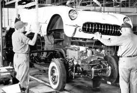 The first Corvettes came off the line in Flint 60 years ago last week.