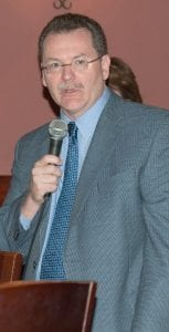 Dr. Michael McCann, Chief of Hurley Trauma and Surgical Critical Care at Hurley Medical Center, was the guest speaker at the Grand Blanc Chamber of Commerce breakfast meeting at Brick Street of Grand Blanc, Aug. 2.