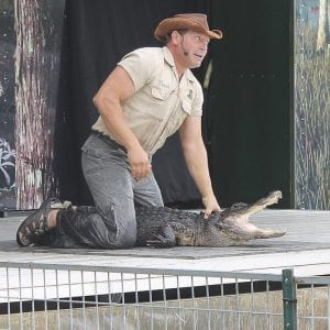 David Castillo performs as part of the Kachunga & The Alligator show. The show occurs daily at 1, 3 and 7 p.m.