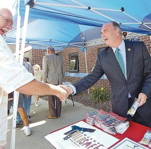 U.S. Congressman Dan Kildee greeted the public and personally passed out free gun locks at an event last week.