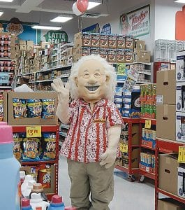 Ollie's cheerful mascot as well as several top management officials including the company president and Tigers great Al Kaline were on hand to launch the Flint grand opening of the bargain outlet store on Aug. 14.