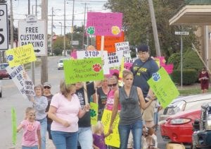 Protesters took to the street in Davison on Labor Day to sound off about the county's No Kill policy for animal control.