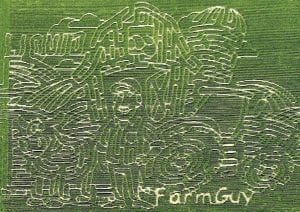 "Country Corn Maze of Corunna, has 8.3 miles of paths for families to walk through this fall. There are games, corn cannon, pumpkin patch, apple cider and donuts available at the farm. This year's theme is ""Farm Guy."""