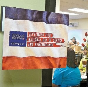 Davenport University hosted a National Day of Service on Sept. 11 by packing care boxes for service men and women.