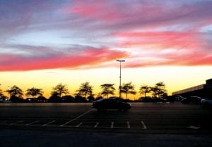 Take time out to appreciate nature's awesome beauty such as tree leaves now changing into their colorful autumnal hues or this glorious sunset viewed last Wednesday from the parking lot at Genesee Valley Center mall.