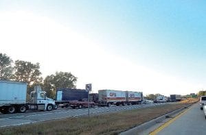 A crash Tuesday on northbound I-75 caused a huge traffic backup for miles.