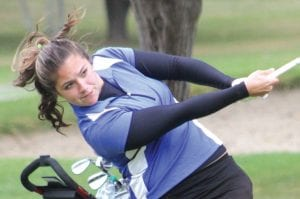 Carman-Ainsworth's Meghan Borgerding was the lone golfer from her team to qualify for the state meet this weekend at Forest Akers West at Michigan State University.