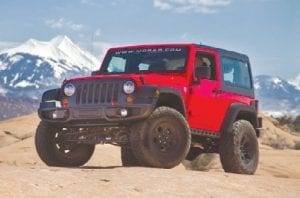 "The Jeep Wrangler has won the SEMA ""Hottest 4x4-SUV"" award four years in a row"