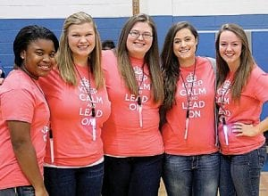 Student Council leaders were among school groups who turned out for the early morning Spirit Cup pep rally at Carman-Ainsworth High School last Friday.