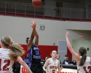 Randi Richardson (10) shoots a juumper in Tuesday's win at Grand Blanc.