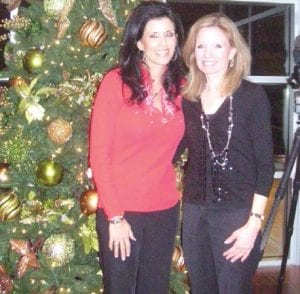 Laurie Incarnati and Patti Kooy, co-chairs of the Season's Treatings event, got into the holiday spirit as they kicked off the festivities at the Hospitality House at McLaren.