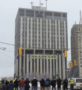 Going, going, gone. Genesee Towers implosion took place at 10 a.m. Saturday.