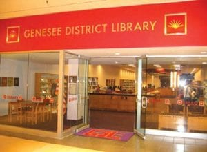 The GDL Genesee Valley library branch is located in a corridor off the Sears wing. Below, this photo shows last year's flooding. No photos were available for the most recent problem.