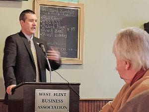 "Flint Mayor Dayne Walling shares highlights from the city's new comprehensive ""Master Plan."""