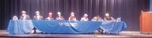 Signing letters-of-intent at Carman-Ainsworth are (left to right) Darryl Johnson, Malik Seales, Demarion Allen, Brandon Walker, Jordan Marsh, Jevonte Alexander, Jaylyn Boone-Williams and L'Daryl Mosley.