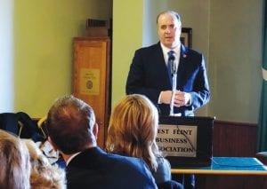U.S. Congressman Dan Kildee spoke at the WFBA meeting last week about key legislative matters.