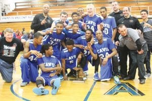 Carman-Ainsworth boys won a district basketball title and won the Saginaw Valley League- South Division.