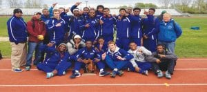 The Carman-Ainsworth boys track team scored points in all but two events at the Division 1 regionals Friday winning the regional title.