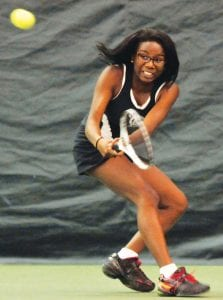 J'Lynn Corder dropped her first match at No. 1 Singles at the regionals.