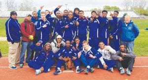 Carman-Ainsworth boys' track team had several members qualify for state track finals and also won the Saginaw Valley League title.