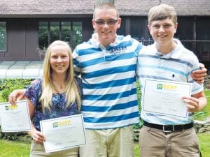 CAHS students Victoria Young, William Norris IV and Noah Vanderhyde earned achievement certificates and college credits for participation in a dual enrollment course sponsored by Davison Schools and the University of Michigan-Flint.