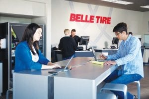 Belle Tire opened Tuesday in its newly renovated, customer-friendly location on Miller Road across from Genesee Valley Center shopping mall.