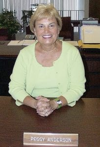 Peggy Anderson is retiring from the C-A Board of Education after 22 years.