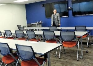 New additions like a technology-enhanced training room are one of the perks at the new office.