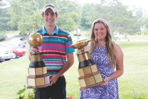 Jack Weller and Kristen Wolfe were the 18-hole championship flight winners for 2014.