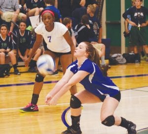 Carman-Ainsworth's Haley Fyfe had 15 digs against Lapeer.