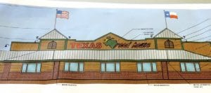 A site plan for a Texas Roadhouse restaurant to be built on Miller Road was approved in July.