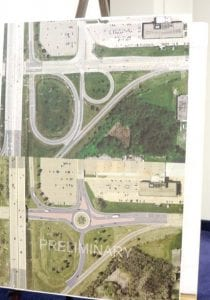 MDOT held a public meeting at Bishop Airport last week to share information a roundabout needed on Bristol Road. MDOT also provided statewide crash statistics from its campaign to reduce them using mitigations such as this proposed roundabout.