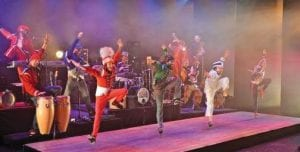 The Rythmic Circus performing.