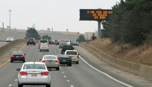 This Dynamic Message Sign on southbound I-75 near Bristol Road was installed last spring and is now up and running to help motorists navigate road conditions ahead.