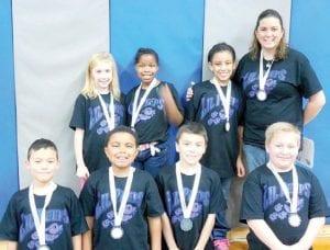 Rankin's Jr. FLL team presenters included third-graders Kylie Fletcher, Haize Gaither, Briana Hinds, Maximus Johnson, Andrew Rose, DaQuindra Stevens and Mason Stuve.