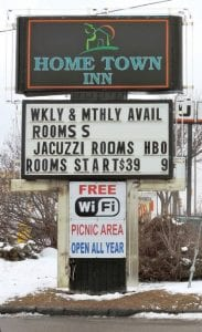 A township police officer was shot Friday night during an incident at the Hometown Inn on Miller Road, a known trouble spot.