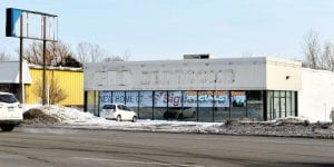 After sitting vacant for at least seven years, this building on Miller Road, formerly a Comfort Zone waterbed store, will undergo an extensive rehab to become the new home of Sign-A-Rama, as indicated by a banner now displayed in the window.
