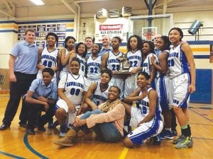 The Lady Cavaliers captured their second straight district championship last Friday.