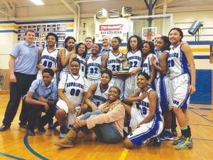 Carman-Ainsworth girls basketball won a district championship.