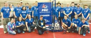 The CAHS Team 314 robotics team has once again reached the winner's circle.