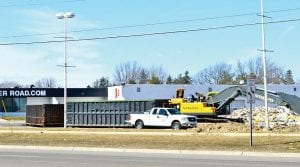 Demolition is finally underway to make way for construction of a Texas Roadhouse restaurant at 4140 Miller Road.