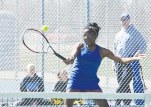 Carman-Ainsworth's J'Lynn Corder plays in the Lapeer Quad, where she finished second last Saturday.