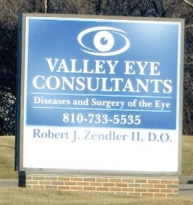 A different eye doctor has taken over this former eye doctor's office on Lennon Road at Dutcher