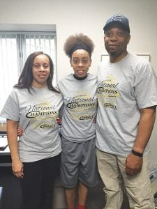 Sydnee McDonald had her mother, Lisa McDonald, and uncle, Brian Johnson, on hand for her signing.