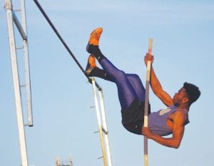 Carman-Ainsworth's Devonte Johnson was fifth in the state pole vault last year and has cleared 14 feet this spring.