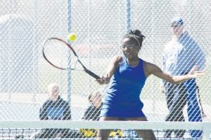 Carman-Ainsworth No. 1 Singles player J'lynn Corder made the First Team All-Saginaw Valley.