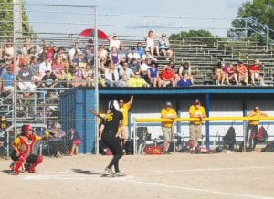 Fans look on during the softball portion of the Bruin Classic on Wednesday at Whaley Park.