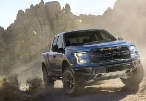 The all-new Raptor can changes the calibration of its powertrain, driveline, traction control, ABS and AdvanceTrac stability control for optimal performance with six preset drive modes: normal, street, weather, mud/sand, Baja for high performance desert racing and rock for low-speed rock crawling.