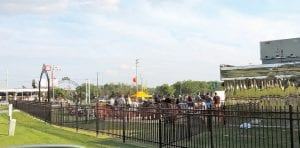 Friday Bike Night at Vehicle City Harley Davidson draws a big crowd of bikers every week for an outdoor concert and social activities.